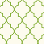 Trellis Wallpaper -Green Double Roll - Ballard Designs