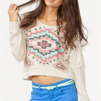 A&#x27;GACI Aztec Diamond Sweatshirt - TOPS
