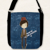 Doctor Who ( 11th doctor and the TARDIS ) - Big shoulder bag