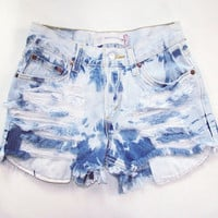 Size 26 high waisted shorts bleached