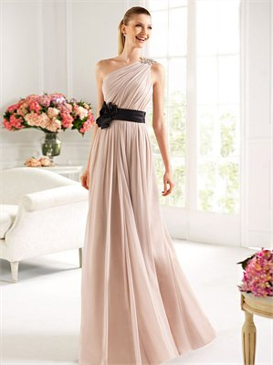 Shoulder Chiffon Dress on One Shoulder Ruched With Sash Chiffon 2013 Prom Dress Pd2131 On Wanelo