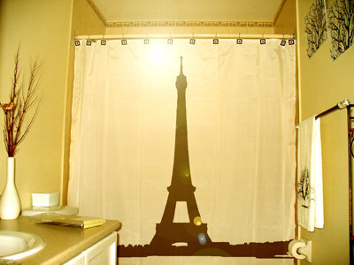 Oriental Curtains And Drapes Eiffel Tower Wastebasket