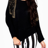 studded-sweater BLACKGOLD - GoJane.com