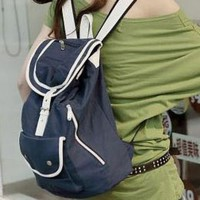 Leisure Stylist Girls Canvas Backpacks Blue : Wholesaleclothing4u.com