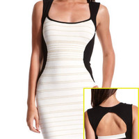 Charlotte Russe - Color Block Bandage Dress $36.99