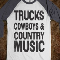 Trucks Cowboys Country Music (Baseball) - Shake it for Luke Bryan
