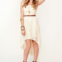 Creme de Coconut Cream High-Low Dress