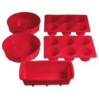 Buy Cookworks Signature Non-Stick Silicone Baking Set - Red. at Argos.ie
