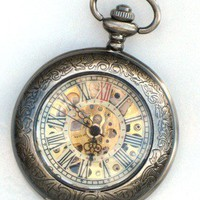Steampunk Pocket Watch  DELUXE SHERLOCK by GlazedBlackCherry