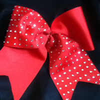Half Rhinestoned Cheer Bow