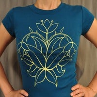 Supermarket: fun lotus yoga blue T M and XXL from Ahpeele