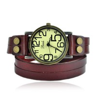 Vintage Style Double Wraps Watch
