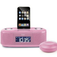 Amazon.com: iLuv Vibro I Bed Shaker 30-Pin iPod/iPhone Alarm Clock Speaker Dock (Pink): MP3 Players & Accessories