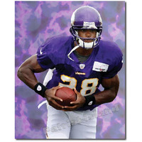 Adrian Peterson Minnesota Vikings Football Player Art Print Sports Star Abstract Portrait 8x10