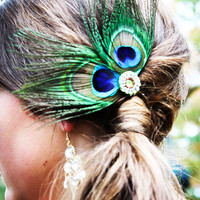 Peacock Wedding Bridesmaid Hair Fascinator