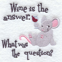 Wine is the Answer embroidered apron