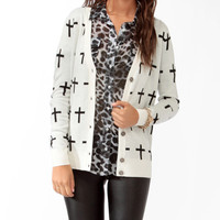 Cross Pattern Cardigan