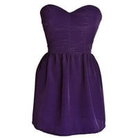 Style Icon's Closet 50s style Vintage Inspired Pin-Up African Print Retro Rockabilly Clothing — Purple Party Dress