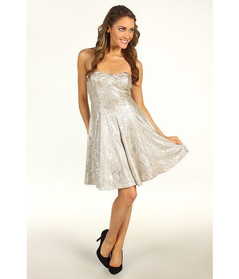 Gabriella Rocha Rani Metallic Tube Dress