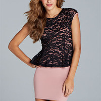 Stephanie Lace Peplum Dress