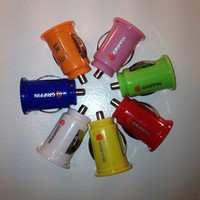 Color Griffin Dual USB Car charger for MP3/iPod/iPhone