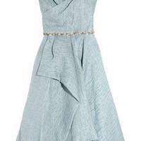 Lela Rose|Embellished woven organza dress|NET-A-PORTER.COM