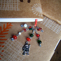 Santa Claus Book Thong Red and Green Christmas Bookmark Holiday