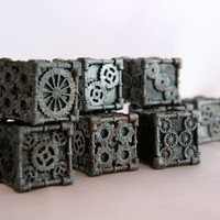 Dice 1 Die  3D printed Steampunk Style Iron by MechanicalOddities