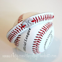 THE ORIGINAL Baseball Bracelet - Hand Stamped Monogram or Number