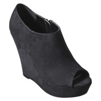 Target:Women's Mossimo?- Peg Peep-Toe Wedge - Black