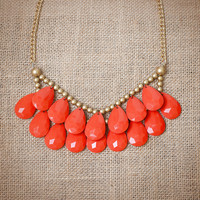 Poppy Red Briolette Necklace