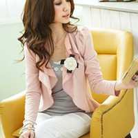 Office Ladies Temperament Pink Jacket with Pink : Yoco-fashion.com