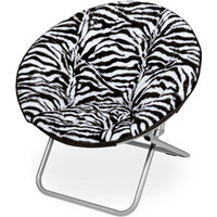 Walmart: Microplush Saucer Chair, Zebra Print