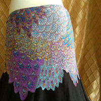 Belly Dance Hip Scarf Lilac Bird of Paradise Size Siren (8-12)