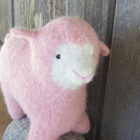 Waldorf Toy - Stuffed Animal - Sheep of a different color, PINK, Knitted and Felted, Eco-Friendly, All NaturalHoliday Kids Toys