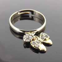 Personalized ring -  ribon ring - friendship
