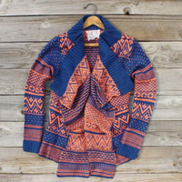 Wood Sled Sweater in Rust, Cozy Women's Sweaters