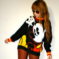 Amazing Disney Mickey Mouse Cartoon Oversized Unisex Hipster Sweater