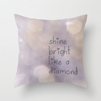 Shine Bright Throw Pillow by Ally Coxon | Society6