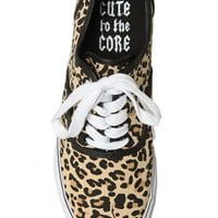 Cute To The Core Prime Leopard Canvas Shoes - 795303