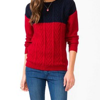 Colorblocked Multi-Knit Sweater