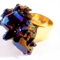 Royal Aura Quartz Ring by nubambu on Etsy