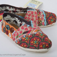 Tom&#x27;s Fabric Covered Shoes by JageInACage on Etsy