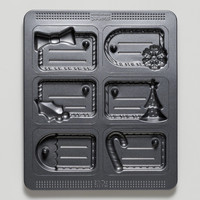 Holiday Tag Cookie Mold Pan