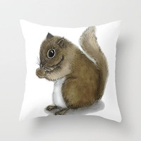 Squirrel Throw Pillow by Veronica Ventress | Society6
