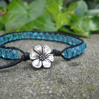 Charming Black and Blue Wrap Bracelet