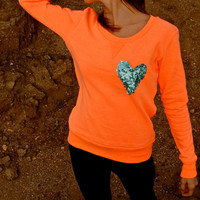 The &quot;Dazzle Pocket&quot; Sweatshirt -  w/Heart Chest Pocket