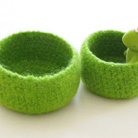 Green Felted Bowl - Bright Colors -.. on Luulla