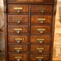 Antique Oak Filing Cabinet by CampHobachee on Etsy