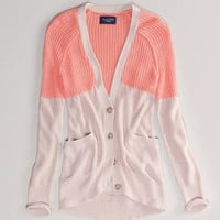 AE Colorblock Girlfriend Cardigan | American Eagle Outfitters